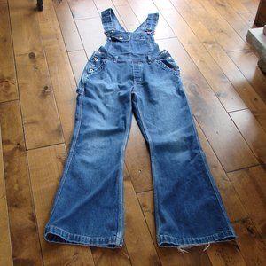 Vintage Y2K Silver Denim Jean Flared Overalls